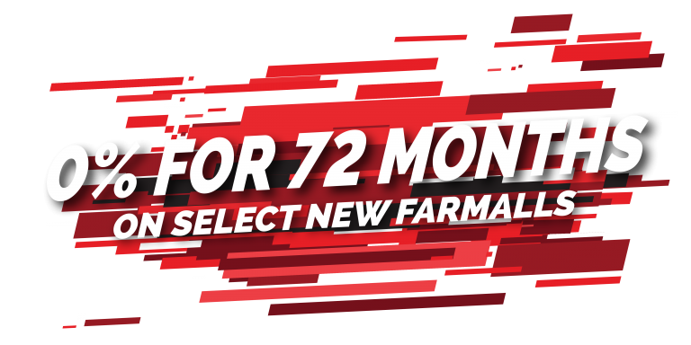 0% For 72 Months On Select New Farmalls