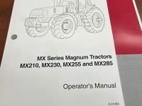 MX210, MX230, MX255, and MX285 Operator's Manual